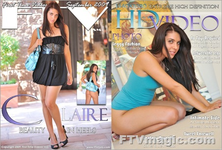 FTV Girl Claire: Beauty In Heels (September 2009)
